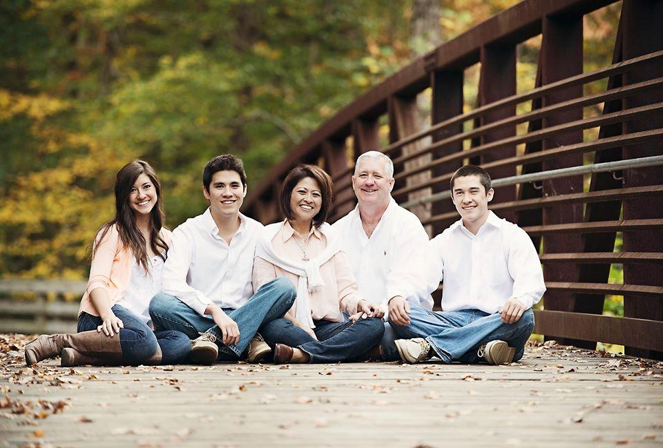 The Reid Family: Chloe, Justin, Susan, Keith, and Robert Reid