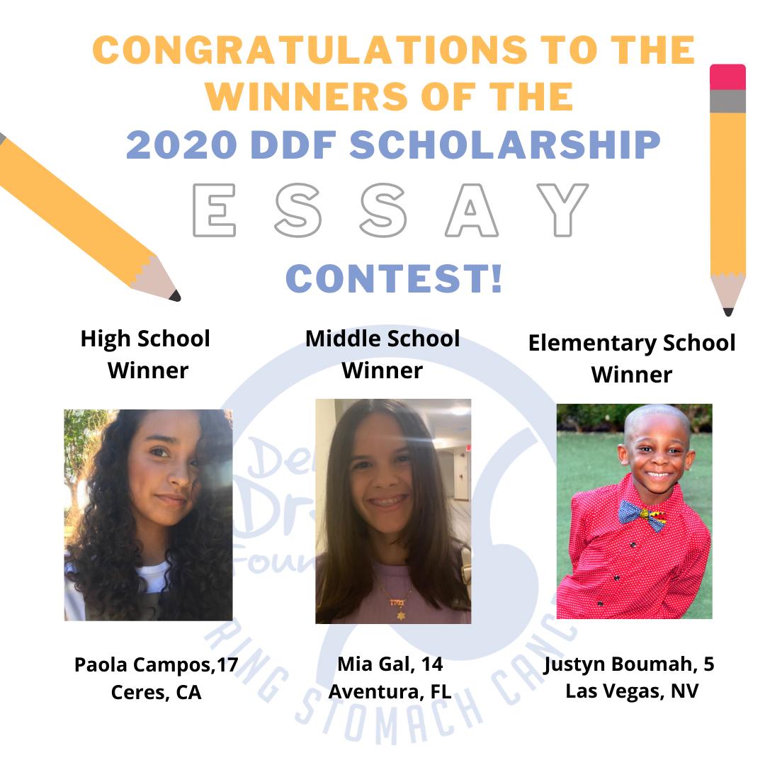 2020 DDF Scholarship Winners